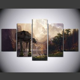 $enCountryForm.capitalKeyWord NZ - 5 Pcs Set Framed HD Printed Cartoon Hot Movie Painting Canvas Print room decor print poster picture canvas Free shipping x 0071