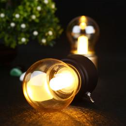 vintage ball lamp 2019 - Creative USB Mini Retro Bulb LED Lamp,Retro Metal Lever Switch Bulb Atmosphere Lamp Rechargeable Vintage Art Desk USB Ni