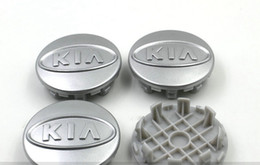 Discount k5 emblem 4pcs lot 59mm ABS silver chrome kia wheel center caps hub cover car badge emblem Cerato K2 K3 K5 For CEED OPTIMA SOUL SORENTO