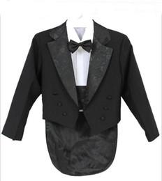 Элегантный Kid Boy Свадебный Костюм/Смокинг Для Мальчиков/Мальчик Блейзеры/Джентльмены Мальчики Костюмы Для Свадьбы (Куртка+Брюки+Галстук+Пояс+Рубашка)