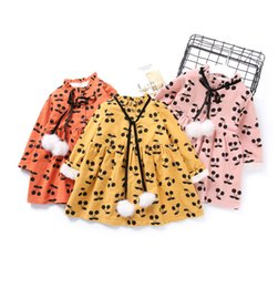 Vestido De Moda Amarillo Baratos-Everweekend Girls Ball Cherry Ruffles Vestido Princess Fleece Lining Rosa amarillo y naranja Color Korean Fashion Fall Party Dress