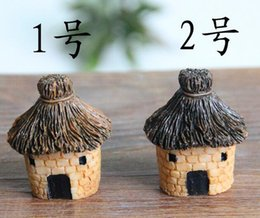 China New Arrive 3cm cute resin crafts house fairy garden miniatures gnome Micro landscape decor bonsai for home decor cheap fairy resin houses suppliers