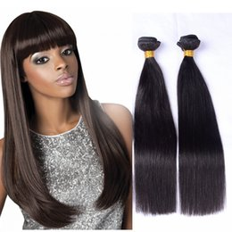 Remy Color For Human Hair NZ - 8A Brazilian human hair bundles for black women full end virgin remy hair bundles natural color straight hair weave