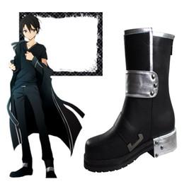 $enCountryForm.capitalKeyWord Canada - Chrismas Popular Anime Exclusive High Quality Sword Art Online Kirito Cosplay Boots Daily Life HOT Halloween Shoes