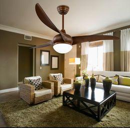 Wholesale Pendant Ceiling fan lights modern minimalist LED restaurant American living room pendant ceiling fans 52inch remote control