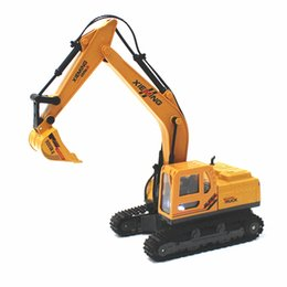 China Wholesale- Diecast alloy construction vehicle RC Engineering Truck Model Classic Toy Remote Control RC Truck Simulation Alloy Excavator supplier toys engineering vehicles suppliers