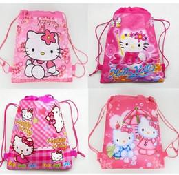 $enCountryForm.capitalKeyWord NZ - Style-4 ! 96pcs Hot Selling Classic fashion Hello Kitty backpack popular girls schools bags good quality canvas cartoon kids backpack Free S