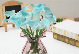 Fake Lilies Flowers Australia - Feel PU simulation flower, mini calla, single decorative calla lily, fake bouquet 50pcs lot