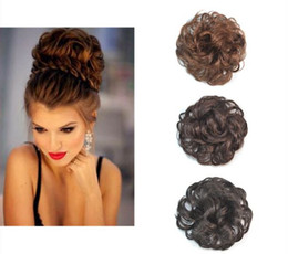 hair black curly toupee Australia - Sara Woman Chignon Buns Kinky Curly Synthetic Hair Bun Extension 13CM*13CM Black & Brown Chignon Clip in Buns Hairpiece Toupee Updo Hair