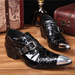 Bridegroom Wedding Shoes Canada - Men Shoes Pointed Toe Black Bridegroom Wedding Shoes Men Genuine Leather Zapatos Hombre 2016 High Quality Sapatos Newest Dress Shoes
