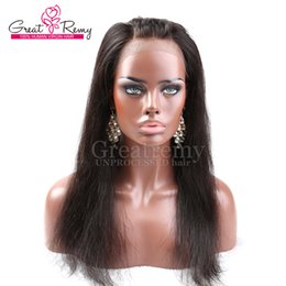 Malaysian Straight Hair 22 Inches Canada - 360 Lace Frontal Wigs Silky Straight Malaysian Virgin Human Hair 22*2 inch Unprocessed Hand Tied Lace Band Frontal Closure Greatremy
