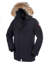 Barato Parkas De Inverno Para Homens-DHL frete grátis 2017 homem Canadá New Arrival Sale Masculino Guse Chateau Black Navy Grey Down Jacket Winter Coat / Parka Sale With Outlet 12