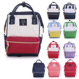 Japan Anello Original Backpack Rucksack Unisex Canvas Quality School Bag  Campus Big Size 20 colors to choose 167e25639414a