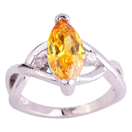 $enCountryForm.capitalKeyWord UK - Yellow Citrine 18K White Gold Plated Silver Ring Size 6 7 8 9 10 11 Women Marquise Gems Jewelry Free Shipping