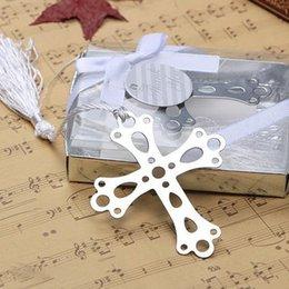 Специальный дизайн серебро из нержавеющей стали крест закладка для свадьбы душа ребенка партии подарок на День Рождения + DHL Бесплатная доставка