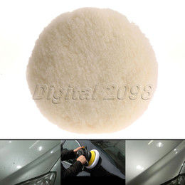 Discount car polishing sponge - Wholesale- Yetaha New 7inch 180mm Wool Polishing Polisher Clean Buffing Pad Car Glass Felt Cleaning Bonnet Detailing Aut