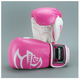 Mma Boxing Glove Canada - 10-14 OZ wholesale High Quality muay thai twins PU leather boxing gloves for men women training in MMA grant boxing gloves