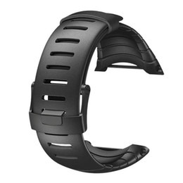 China Wholesale-Excellent Quality 2016 Luxury Rubber Watch Replacement Band Strap For SUUNTO CORE SS014993000 cheap replacement bracelet watch bands suppliers