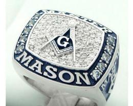 Ücretsiz nakliye Yeni varış inanılmaz mavi köşkü masonik şampiyonası yüzük indirimde