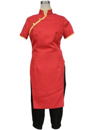 Costume Kagura Gintama Pas Cher-Kukucos Anime Gintama Cosplay Costume-Leader Kagura Cheongsam Ensemble complet Halloween Party Dress Up