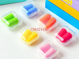 Wholesale 500Pairs Soft Foam Ear Plugs Tapered Travel Sleep Noise Prevention Earplugs Random colors With retail box