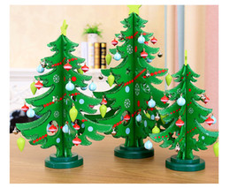 christmas supplies wooden decorations trees christmas tree window table props children christmas gifts crafts decoration gift - Decorated Christmas Trees For Sale