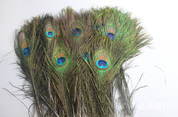 peacock christmas decor UK - Craft Peacock Feathers Natural Peacock Tail Eyes Feathers for Halloween Christmas Decor (200pcs) Length In All 40-50cm Tail Eyes Width 4-6