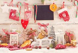 vinyl photographic backgrounds 2018 - Wooden Wall Floor Photography Backdrops Vinyl Digital Printed Christmas Decors Baby Newborn Photo Prop Kids Children Pho