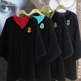 Barato Harry Potter Cosplay Adultos-DHL 4 estilos Criança Adulto Gryffindor Cloak Robe Cape Costume Halloween Gift Gryffindor Cape Harry Potter Cosplay Costume E1082