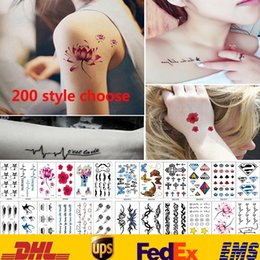 HealtH arts online shopping - 200 Style Tattoo Stickers Waterproof Body Art Temporary Tattoos Stickers Women Men Jewelry Gifts Health Beauty Product HH S17