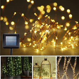 solar power string light 10m 100 led copper wire string fairy light for outdoor living decoration garden balcony sunroom - Solar Powered Outdoor Christmas Lights