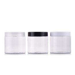 $enCountryForm.capitalKeyWord UK - 12pcs 200g Portable Clear Empty Plastic Jar For Mask Round Bottle Empty Cream Jars Containers For Cosmetic Bead Storage