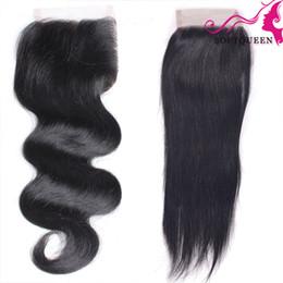 Discount clearance brazilian human hair - Clearance Sale!Top Lace Closure Natural Black 7A Virgin Brazilian Peruvian Malaysian Indian lace closure Human Hair Lace