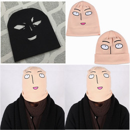 Order free beanies online shopping - 2016 Anime One Punch Man Saitama Woolen Beanie Hat Winter Hats for Men Women Warm Kniting Fedora Hat Accpet Mix Order