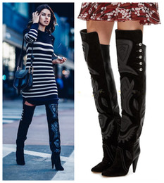 Thigh High Kitten Heel Boots NZ | Buy New Thigh High Kitten Heel ...