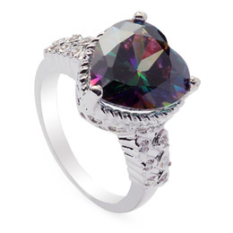 Copper Fire UK - Rings Rainbow Fire Mystic Cubic Zirconia Favourite Copper Rhodium Plated Noble Generous MN768G sz#6 7 8 9 Promotion for women Rave reviews