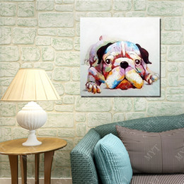 $enCountryForm.capitalKeyWord Canada - Hand Made Dog Oil Painting On Canvas Animal Oil Painting Abstract Modern Canvas Wall Art Living Room Decor Picture