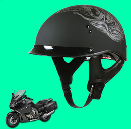 Dot Approved Half Helmets Canada - HOT SALE SOL summer motorcycle helmet capacetes motociclistas capacete motorcycle capacete motocicleta Half Face Harley Helmet DOT Approved
