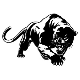 China 19.5*13.6CM Fiery Wild Panther Hunting Car Body Decal Car Stickers Motorcycle Decorations Black Silver C9-2149 suppliers