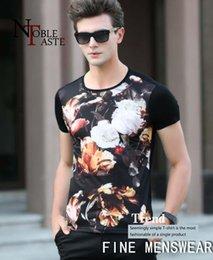 Nueva tendencia de los hombres de verano nueva cobertura alrededor del cuello de la camiseta de los hombres de moda impreso camiseta de los hombres de sección delgada del boutique en venta