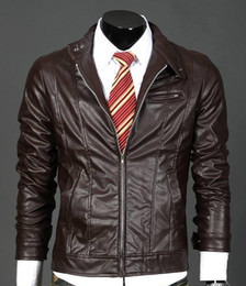 Wholesale slim fit genuine leather jacket for sale - Group buy Latest men leather jackets concise slim fit jackets casual Leather short jackets be yong and lordly comfortable jackets
