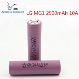 Fake battery online shopping - 100 Authentic LG MG1 mah Rechargeable Battery A Discharge High Drain Lithium Batteries Beat Fake LG HG2 Fedex