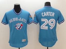 92b6c027e ... 29 Joe Carter Toronto Blue Jays Jersey Retro Flexbase Blue 12 Roberto  Alomarv Throwback Baseball Jerseys Mens ...