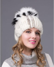 80d525b4922c3e Winter Fur Hats Women 2 Colors Mink Fox Caps Fox Fur Soft Warm Women Winter  Cap Natural Mink and Fox Fur Handmade hat DHY-25