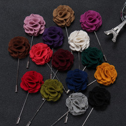 green suits for sale Australia - Men Colorful Cloth Fashion Brooches Long Pin Cheap for Suit Manual Brooch for Male or Female Hot Sale suit Boutonniere Fabric yarn pins