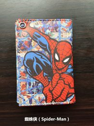 Fresh Movies Canada - Comics DC Marvel Spider Man Purse Movie Anime Hero Wallets Leather Money Bags Clutch Pouch Teenager Cartoon Printed Short Wallet