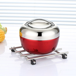 Heated luncH box online shopping - Stainless Steel Apple Lunch Box Multi Function Outing Picnic Portable Convenient Heat Preservation Practical Hot Sale ct J R
