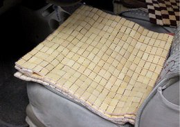 $enCountryForm.capitalKeyWord Canada - Square Bamboo Cushion Summer Essential Cool And Refreshing Car Mats Mahjong Small Square Pad Upholstery Piece 68-1A 608