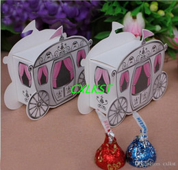 Barato Caixas De Doces Da Princesa-Enchanted Mini Carriage Princess Wedding Party Favor Gift Candy Gift Boxes Boa qualidade Brand New Free Shipping