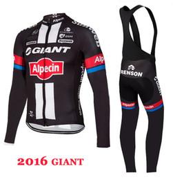 online shopping WINTER FLEECE THERMAL GIANT ALPECIN PRO TEAM BLACK LONG  SLEEVE CYCLING JERSEY BIB PANTS d74e0c310